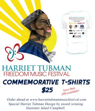 Harriet Tubman Freedom Music Festival - T shirt Design