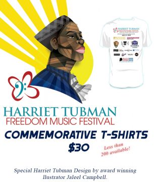 Harriet Tubman Freedom Music Festival - T shirt Design - sm